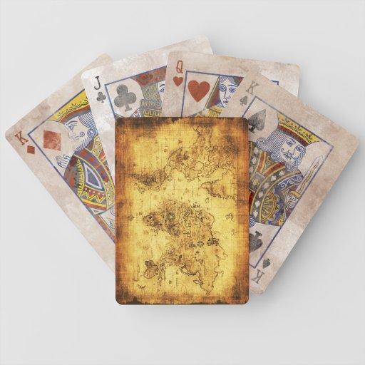 Vintage Old World Map Designer Set Playing Cards