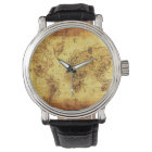 Vintage Old World Map History-buff Watch