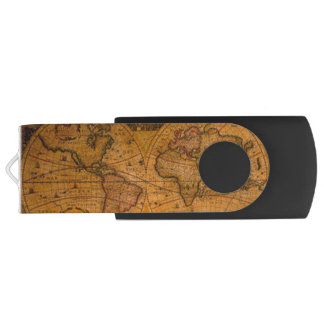 Vintage Old World Map History-lover's Gift USB Flash Drive