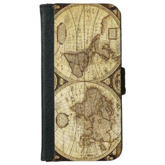 Vintage Old World Map iPhone 6 Wallet Case