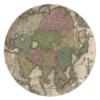 Vintage Old World Map Plate