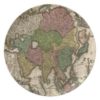 Vintage Old World Map Plate