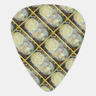 Vintage Old World Map Tiled Pattern Guitar Pick