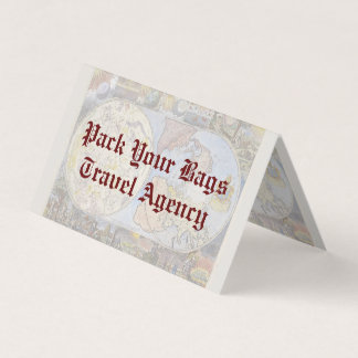 Vintage Old World Map Travel Agency Business Card