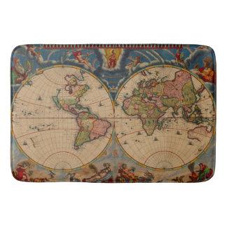 Vintage old world Maps Bath Mat