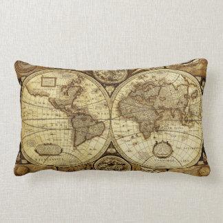 Vintage old world Maps Beautiful Antique maps Lumbar Pillow