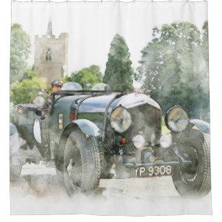 Vintage Oldtime Automobile Shower Curtain