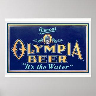 Vintage Olympia Beer Poster 13 x 19