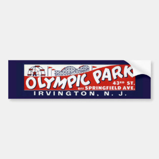 Vintage Olympic Park Bumper Sticker, New Jersey Bumper Sticker