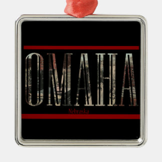 Vintage Omaha Postcard Design Metal Ornament