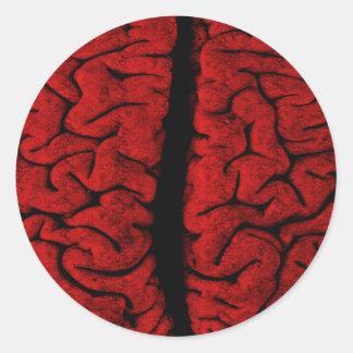 Vintage On The Brain Sticker
