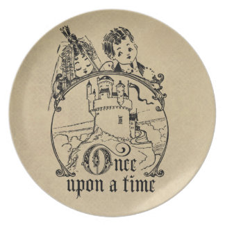 Vintage Once Upon a Time Apparel, Decor, and Gifts Dinner Plates