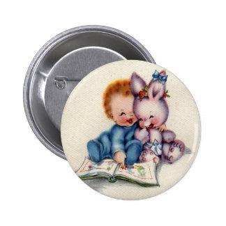 Vintage One Year Old Boy Round Button