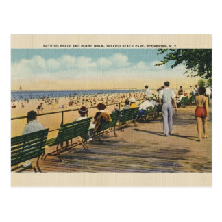 Vintage Ontario Beach Park Rochester Post Card
