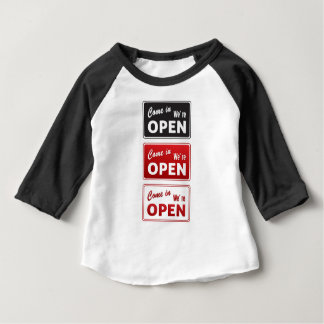 Vintage Open / Closed Signs Baby T-Shirt