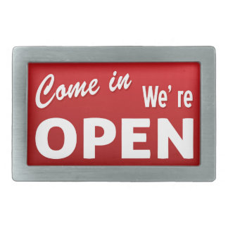 Vintage Open / Closed Signs Belt Buckle