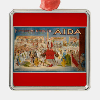 Vintage Opera Aida Artwork Metal Ornament