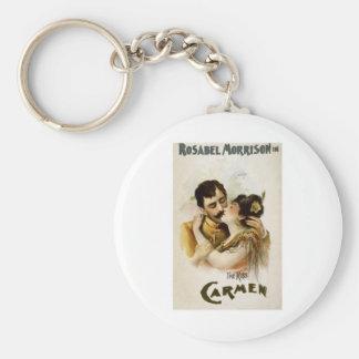 Vintage Opera Carmen Poster Keychain