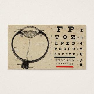 Vintage Ophthamologist Business Cards Eye Chart