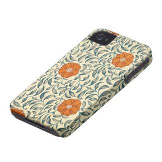 Vintage Orange Blossom Design Case-Mate iPhone 4 Case