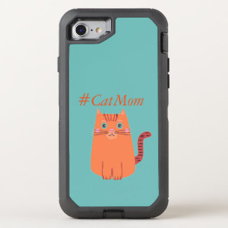Vintage Orange Cat #CatMom OtterBox Defender iPhone 7 Case