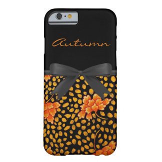 Vintage Orange Floral pattern iPhone 6 Case