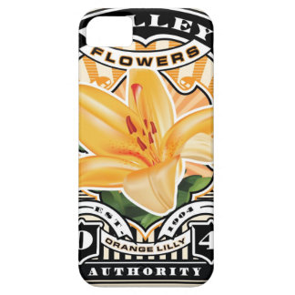 Vintage Orange Lilly Stamp Art iPhone 5 Cases