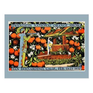 Vintage orange show expo San Bernardino Postcard