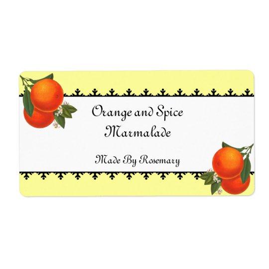 Vintage Oranges Canning or Soap Label