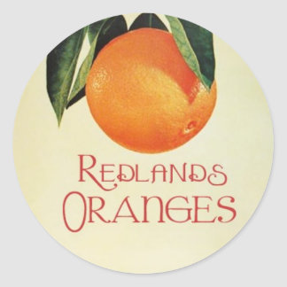 Vintage Oranges Classic Round Sticker