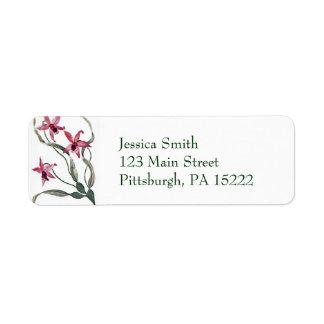Vintage Orchid Address Labels