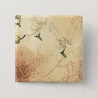 Vintage Orchid Background 2 Inch Square Button