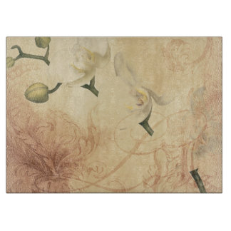 Vintage Orchid Background Cutting Board