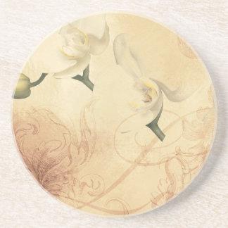 Vintage Orchid Background Drink Coaster