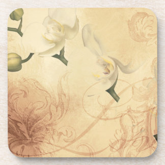 Vintage Orchid Background Drink Coasters