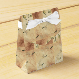 Vintage Orchid Background Favor Box