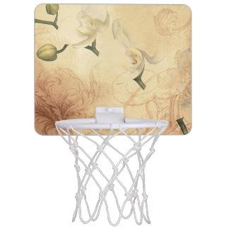 Vintage Orchid Background Mini Basketball Hoop