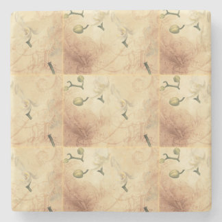 Vintage Orchid Background Stone Coaster