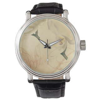 Vintage Orchid Background Watch