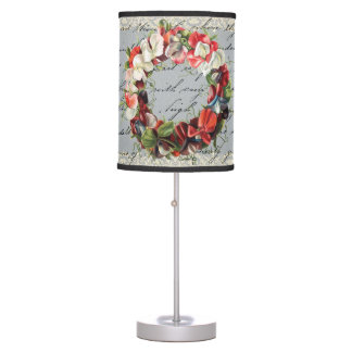 Vintage Orchid Collage Lamp
