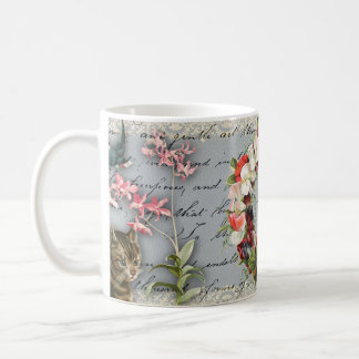 Vintage Orchid Collage Mug