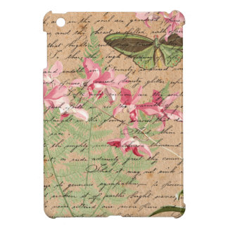 Vintage Orchid Fern Collage iPad Mini Cover