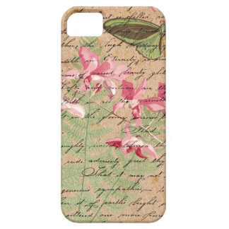 Vintage Orchid Fern Collage iPhone 5 Case
