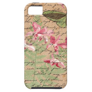 Vintage Orchid Fern Collage iPhone 5 Cover