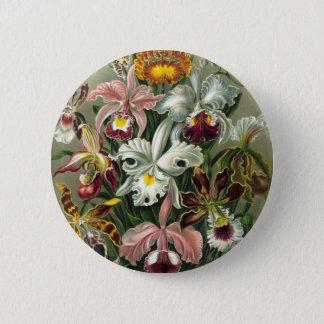 Vintage Orchids Illustration 2 Inch Round Button