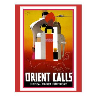 Vintage Orient Calls Postcard