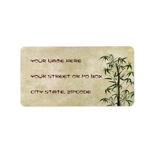 Vintage Oriental Bamboo 1 Label