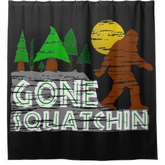 Vintage Original Gone Squatchin Shower Curtain