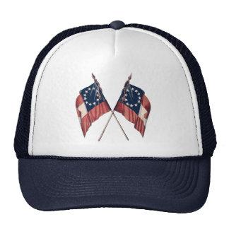 Vintage Original Illustrated American Flag Trucker Hat