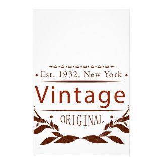 vintage original stationery paper